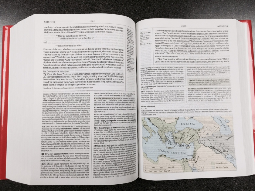 Acts 2 in the ESV Study Bible